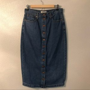 Madewell denim skirt